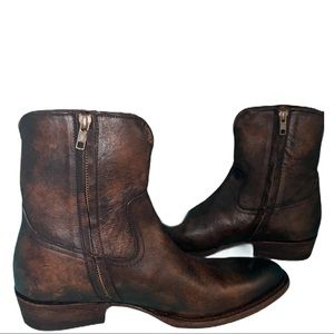 Frye Brown Brown Leather Boot Size 9